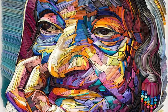 Les surprenants portraits en papier plié de Yulia Brodskaya