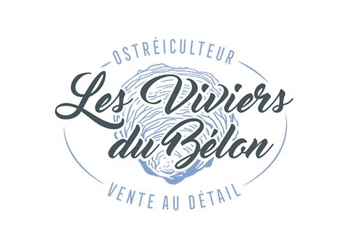 """Identité visuelle """"Les Viviers du Bélon"""""""