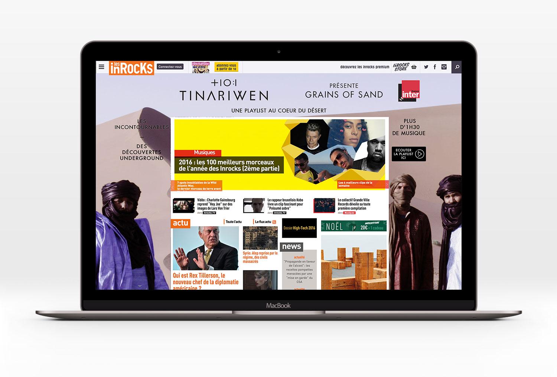 Habillage web Tinariwen - comunpoisson.co