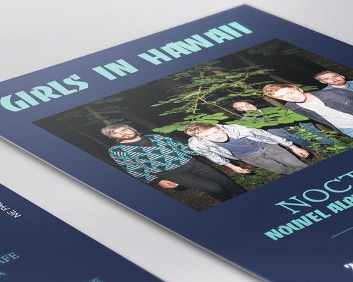 Création de flyer - Com un poisson - Girls in hawaii