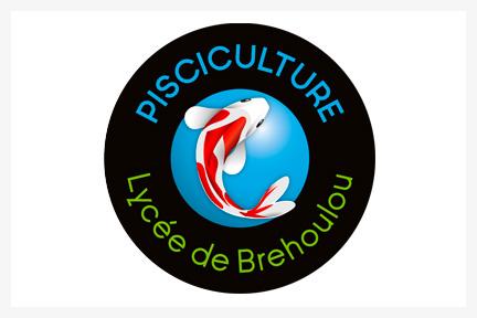 Pisciculture Lycée de Brehoulou, Graphiste Fouesnant, Concarneau, Com un poisson