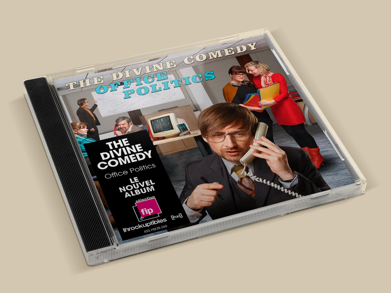 Graphiste Bretagne - Stickers CD - The divine comedy - Office politics - Graphic Designer