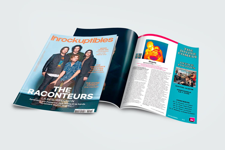 Graphiste Bretagne - Annonce-presse Les Inrockuptibles - The divine comedy - Office politics - Graphic Designer