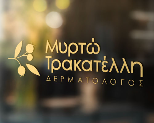 Création de logo Myrto Trakatelli - Graphiste freelance - Direction artistique