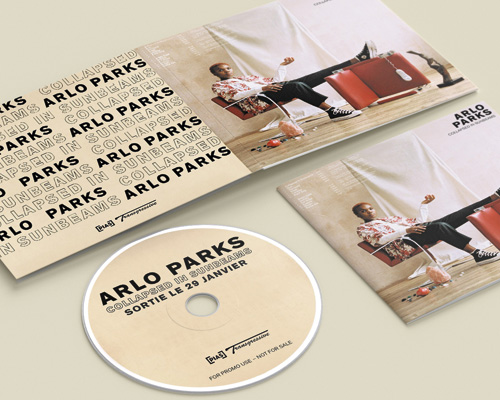 Arlo Parks - CD Promo - Com un poisson Design graphique