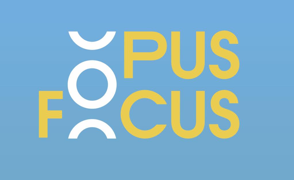 OPUS FOCUS - LOGO - HARMONIA MUNDI - COM UN POISSON - GRAPHIC DESIGN